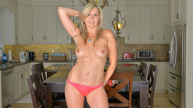 Beautiful milf strips