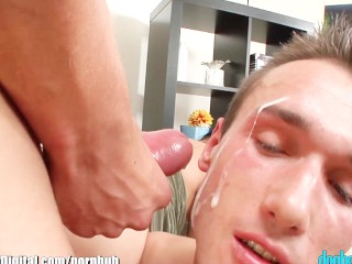 Bisexual Threesome Cumshot Compilation