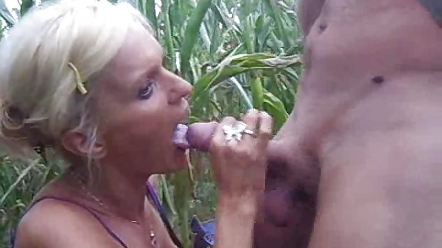 Busty amateur girlfriend outdoor action with cumshot