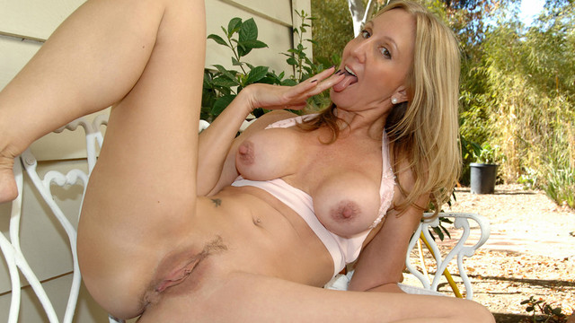 Naughty mom gives herself
