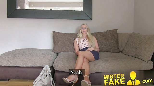 MisterFake South African babe put through paces in casting